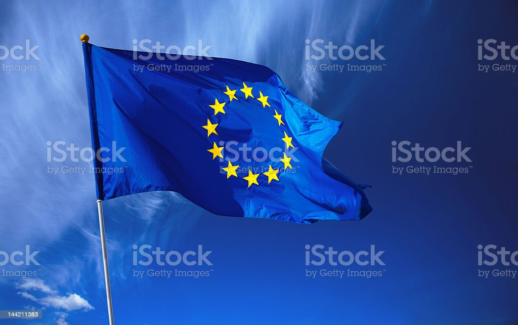 Flag of European Union royalty-free stock photo