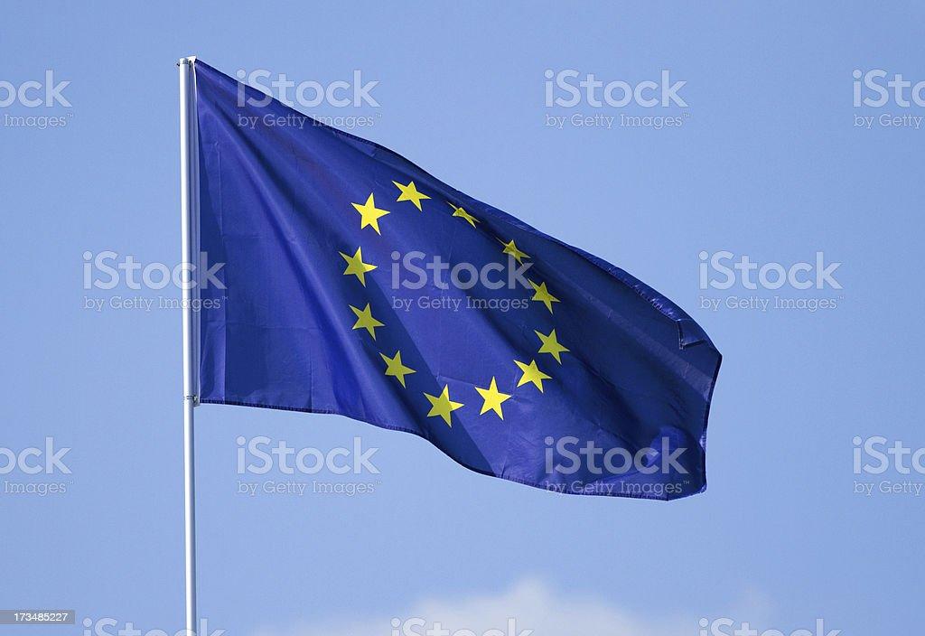 Flag of European Union royalty-free stock photo