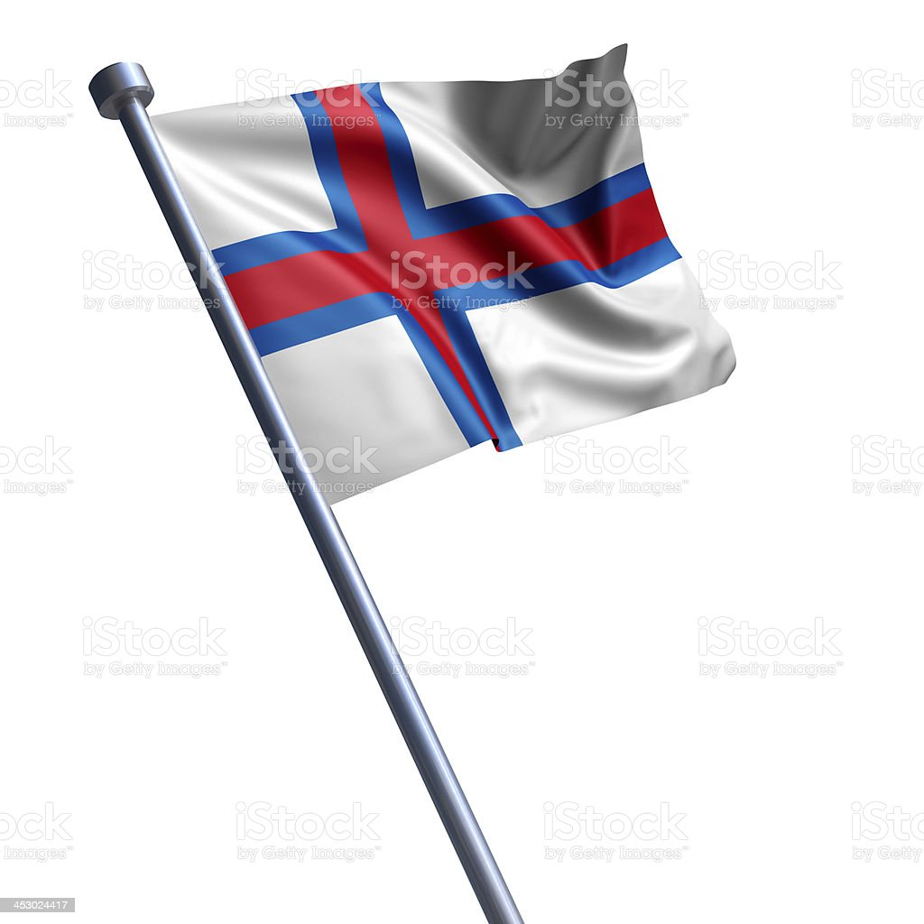 Flag of Faroe Islands isolated on white stock photo