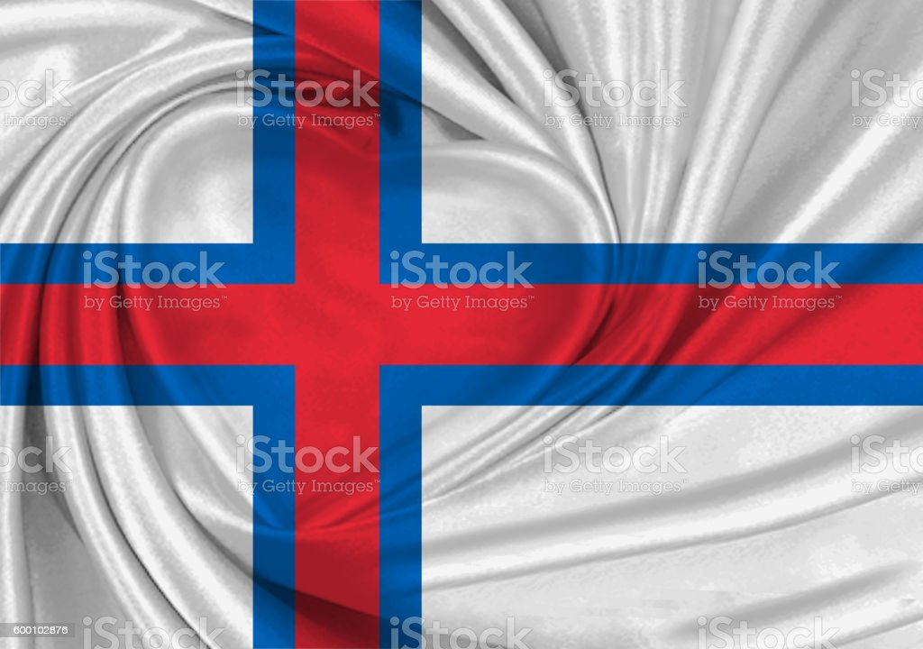 Flag of Faroe Islands stock photo