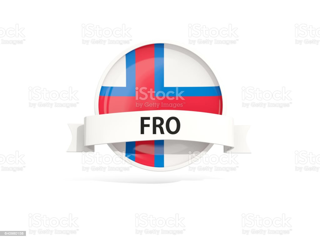 Flag of faroe islands with banner stock photo