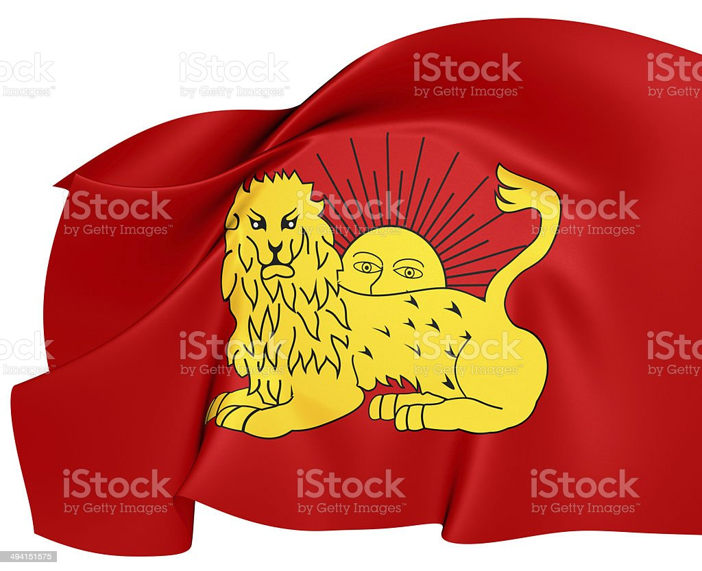 Flag of Fath Ali Shah stock photo