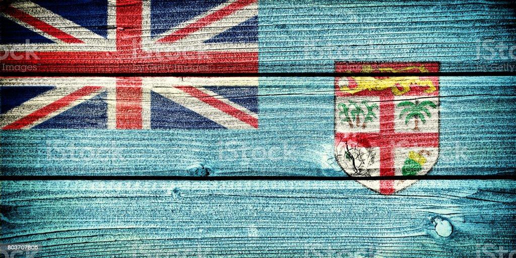 flag of Fiji stock photo
