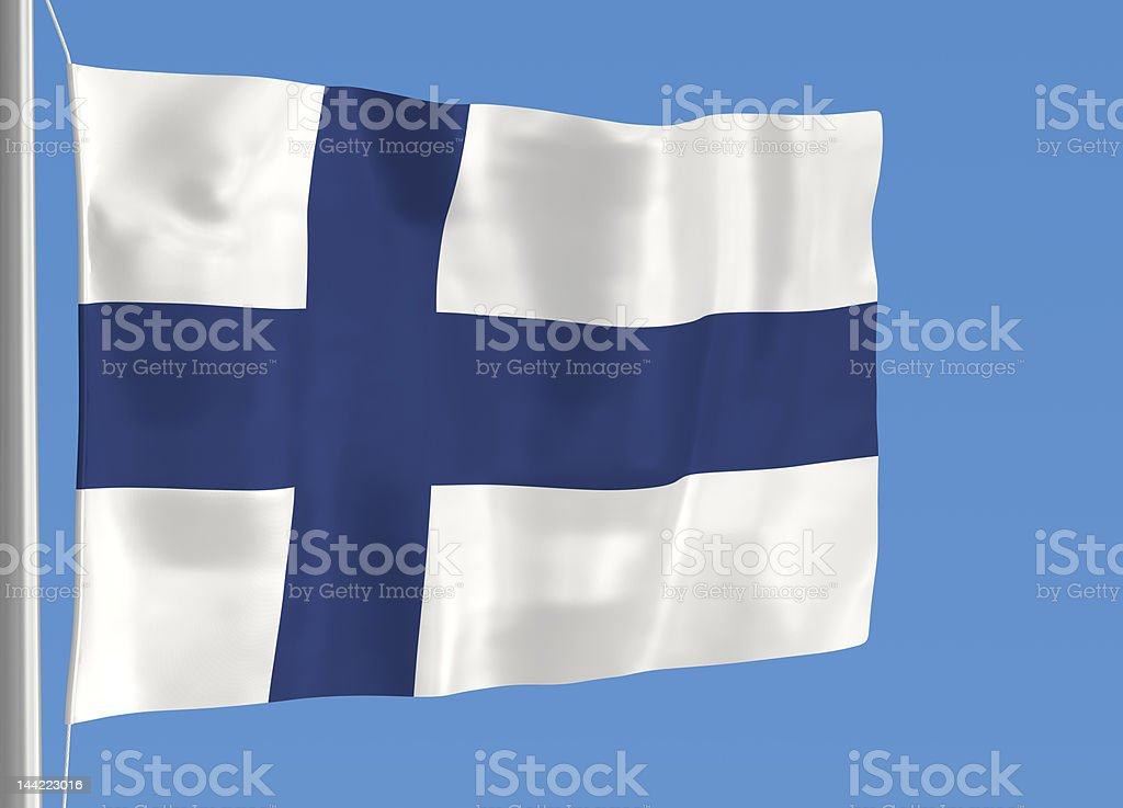 Flag of Finland closeup royalty-free stock photo