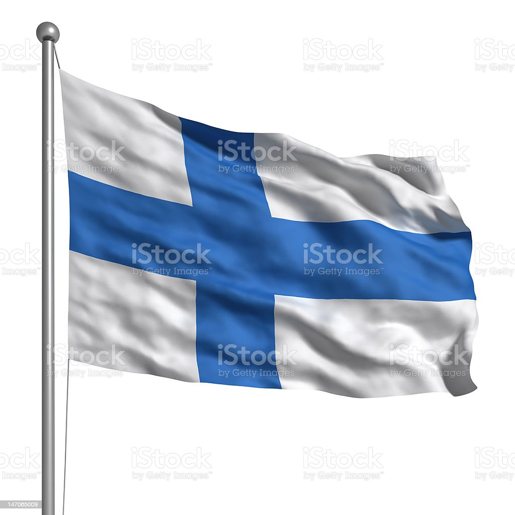 Flag of Finland (Isolated) royalty-free stock photo