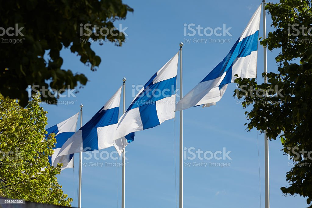 Flag of Finland. stock photo