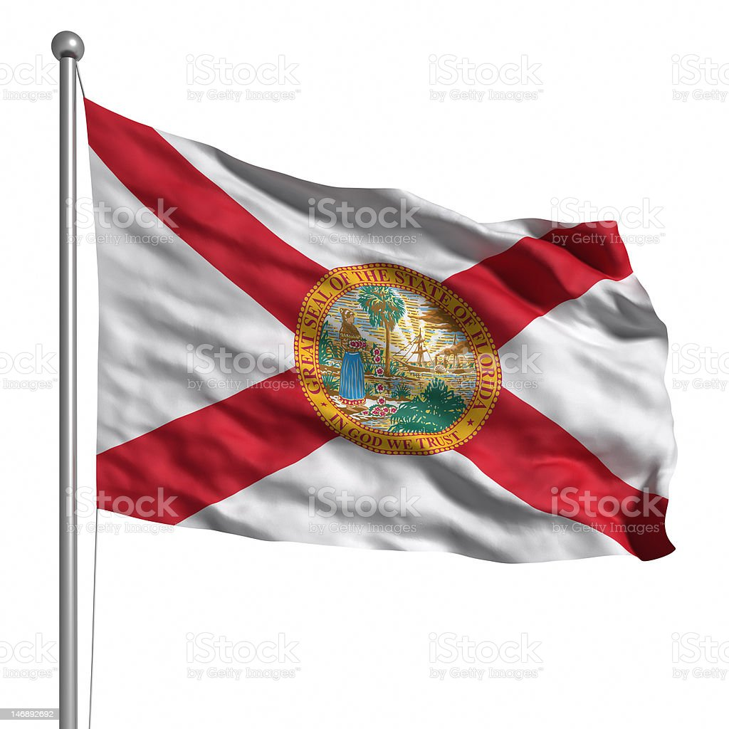 Flag of Florida (isolated) royalty-free stock photo