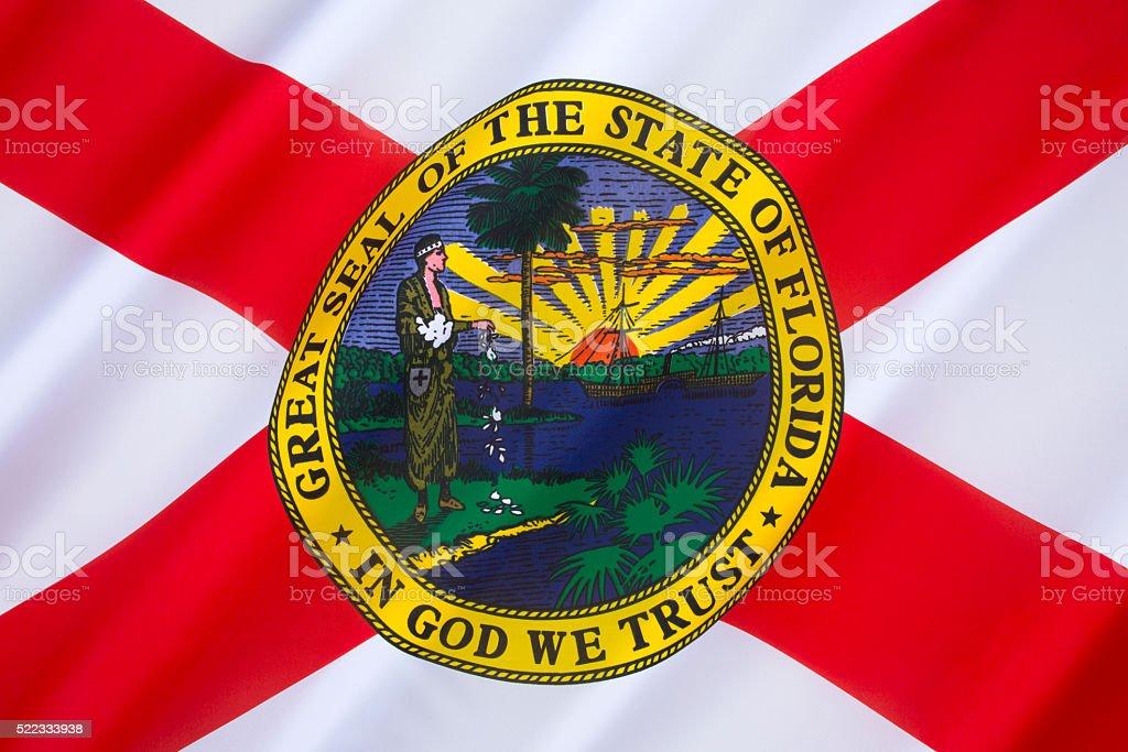 Flag of Florida - United States of America stock photo