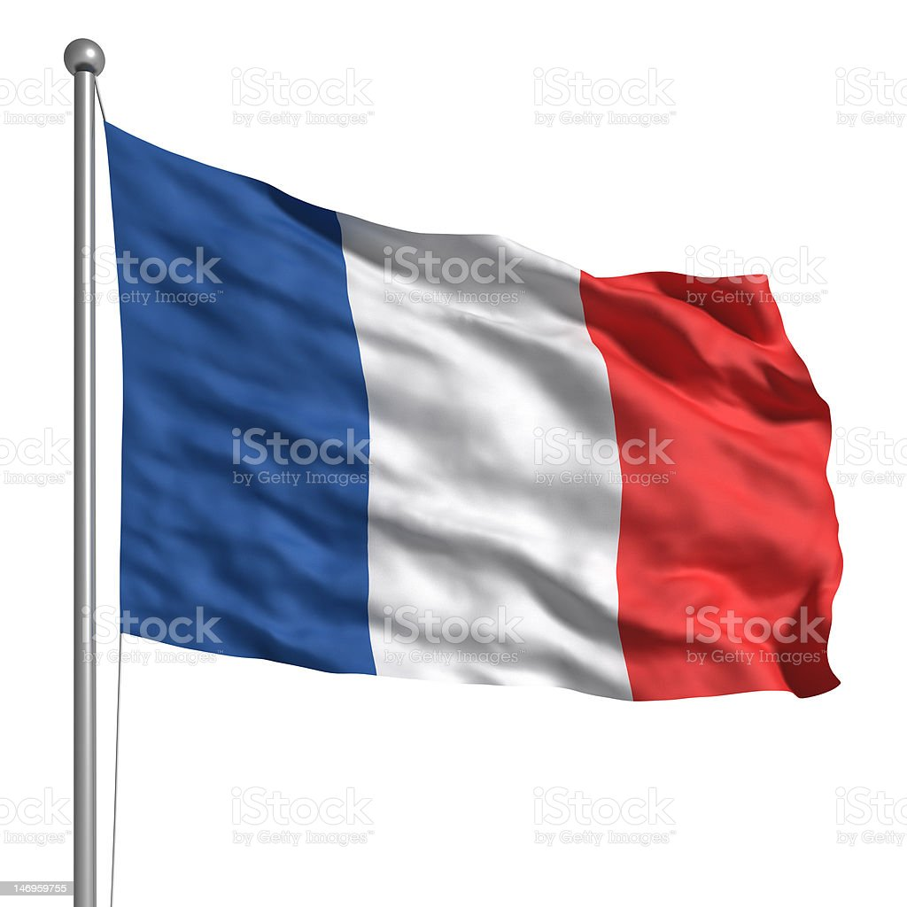 Flag of France (Isolated) stock photo