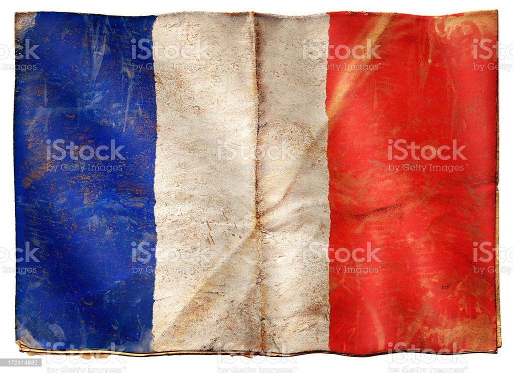 Flag of France XXL royalty-free stock photo