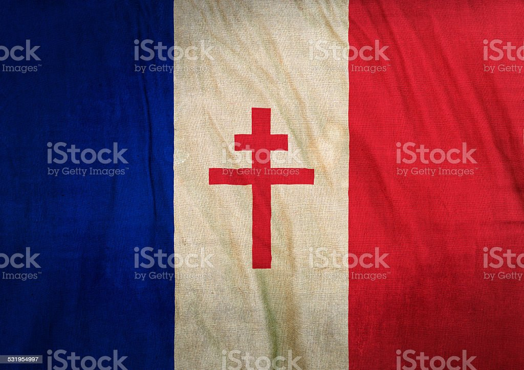 Flag of Free France stock photo