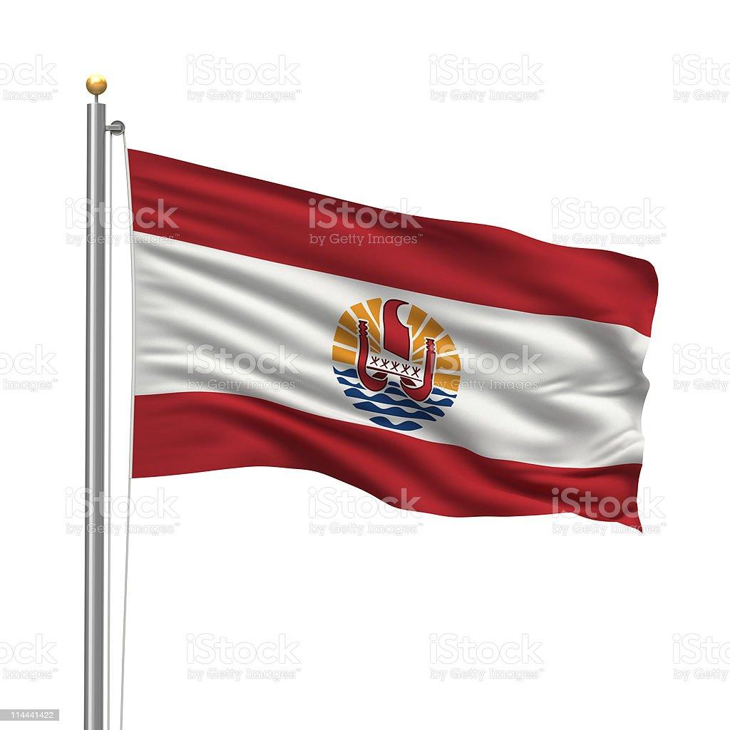 Flag of French Polynesia stock photo