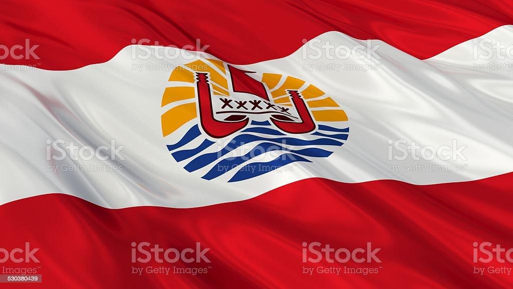 Flag of French Polynesia. stock photo