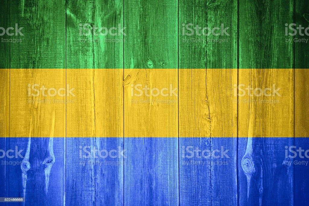 flag of Gabon stock photo