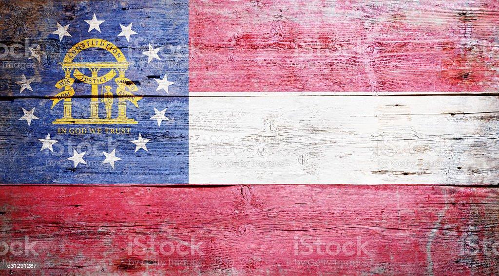 Flag of Georgia stock photo