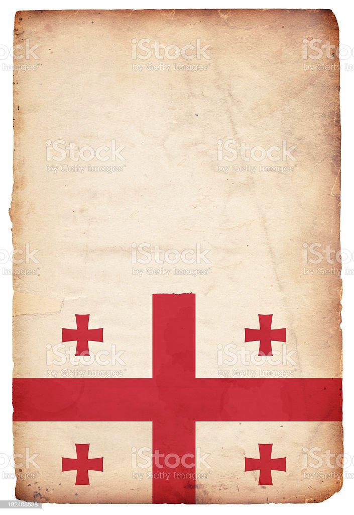 Flag of Georgia - XXXL royalty-free stock photo