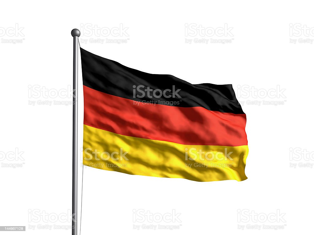 Flag of Germany (OLD) Newer version available. stock photo