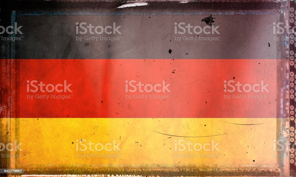 Flag of Germany, on a grunge film frame stock photo