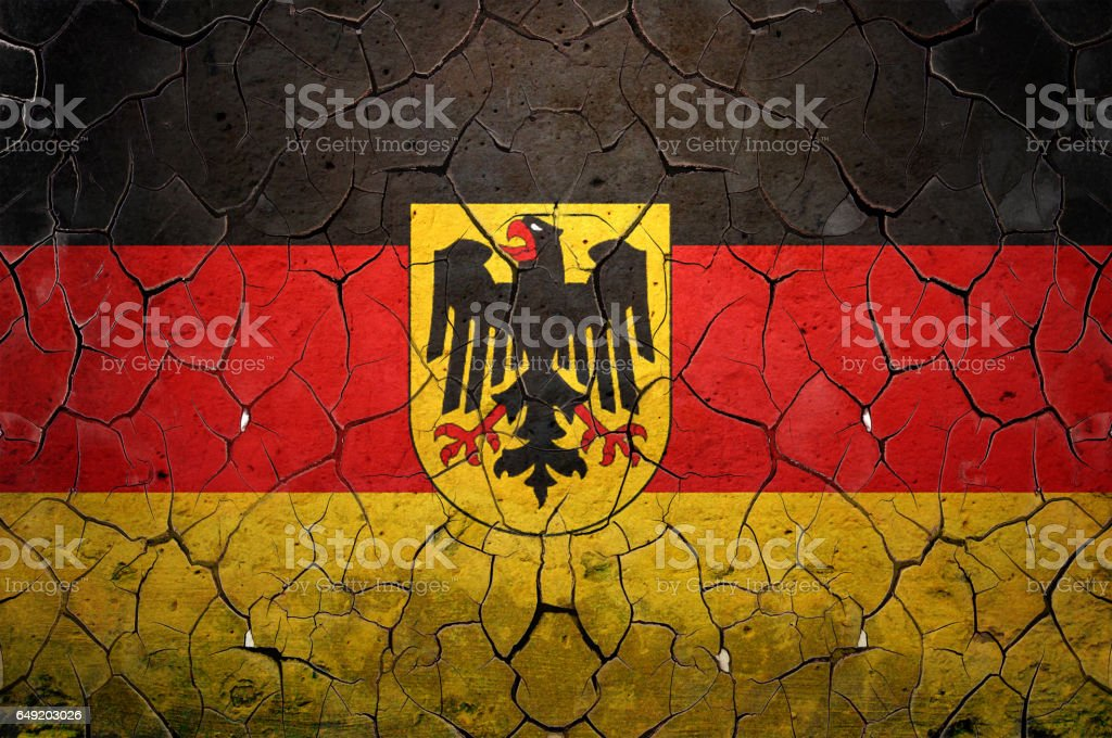 Flag of Germany painted on a grunge wall stock photo