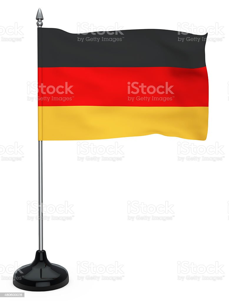 Flag of Germany with flagpole vector art illustration