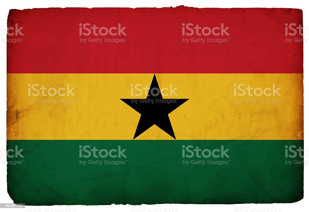Flag of Ghana - XXXL stock photo