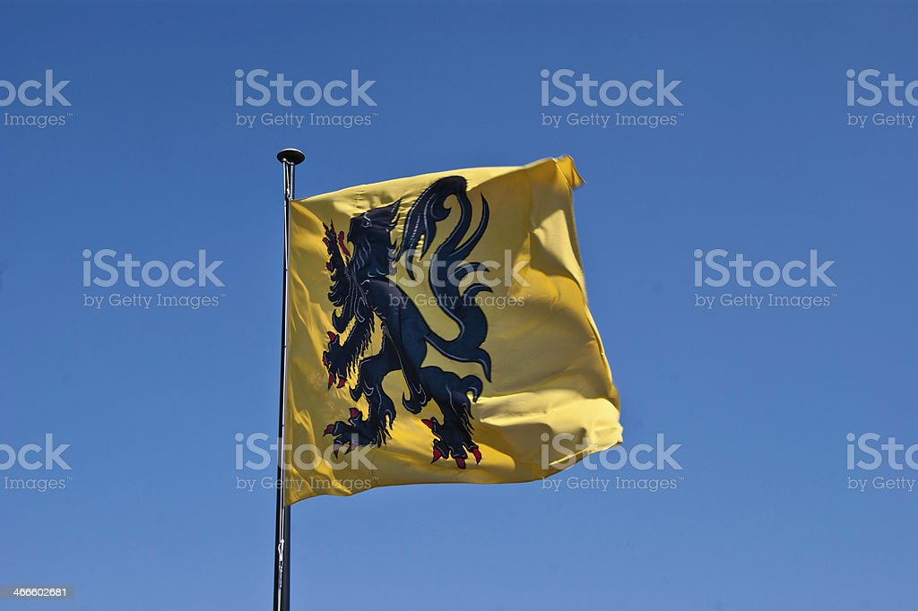 Flag of Ghent.dng royalty-free stock photo
