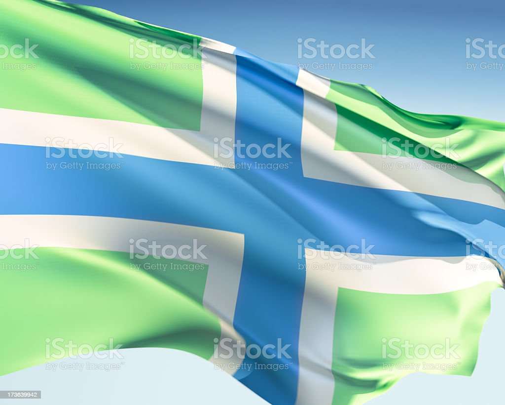 Flag of Gloucestershire stock photo