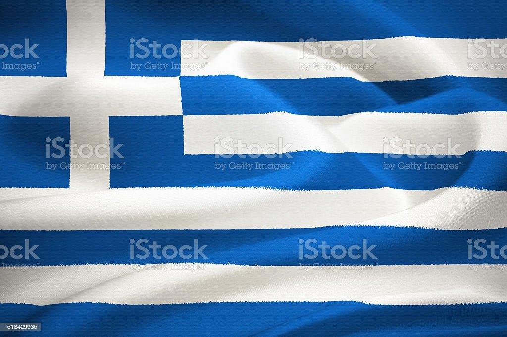 flag of Greece stock photo