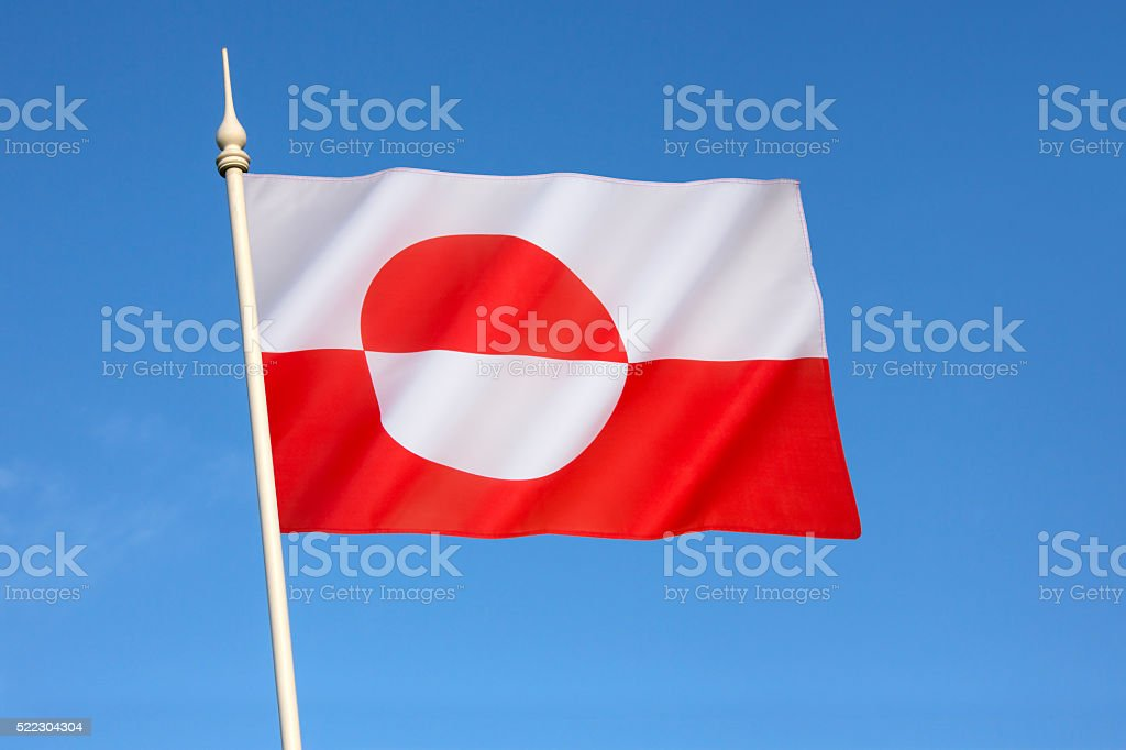 Flag of Greenland stock photo