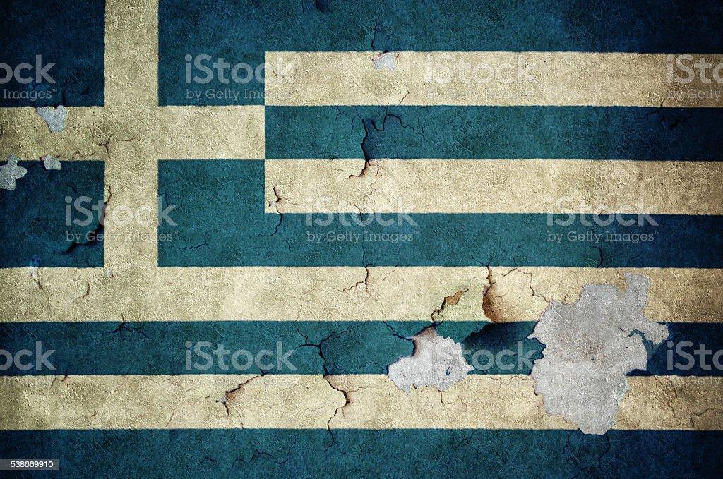 Flag of Greeze stock photo