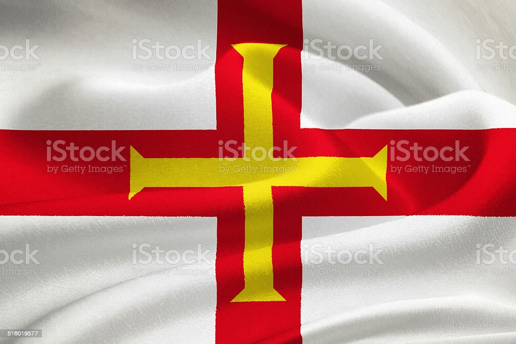 Flag of Guernsey stock photo