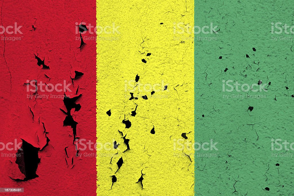Flag of Guinea royalty-free stock photo