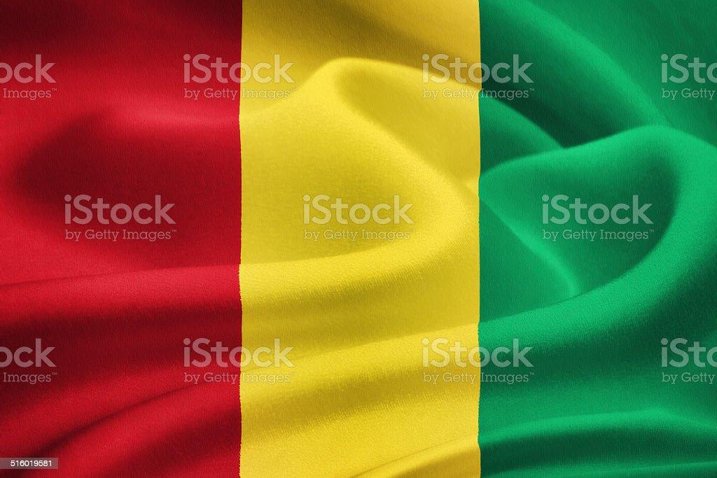 flag of Guinea stock photo