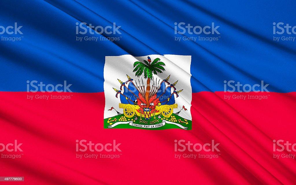 Flag of Haiti - Caribbean, Port-au-Prince stock photo