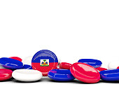 Flag of haiti, round buttons