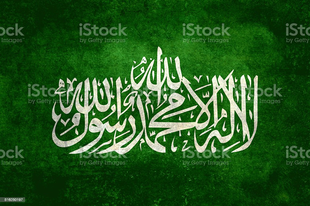 Flag of Hamas - Distressed version stock photo