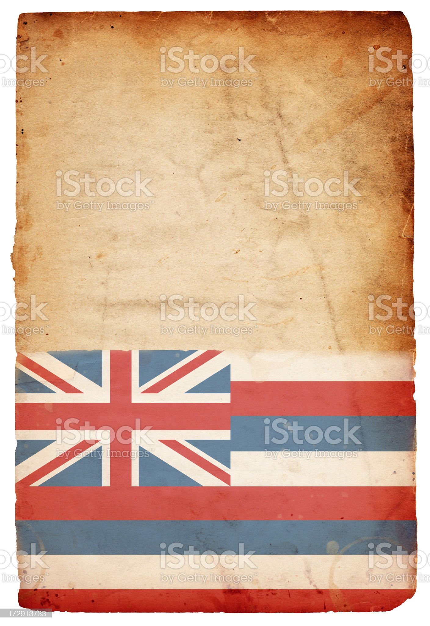 Flag of Hawaii XXXL royalty-free stock photo