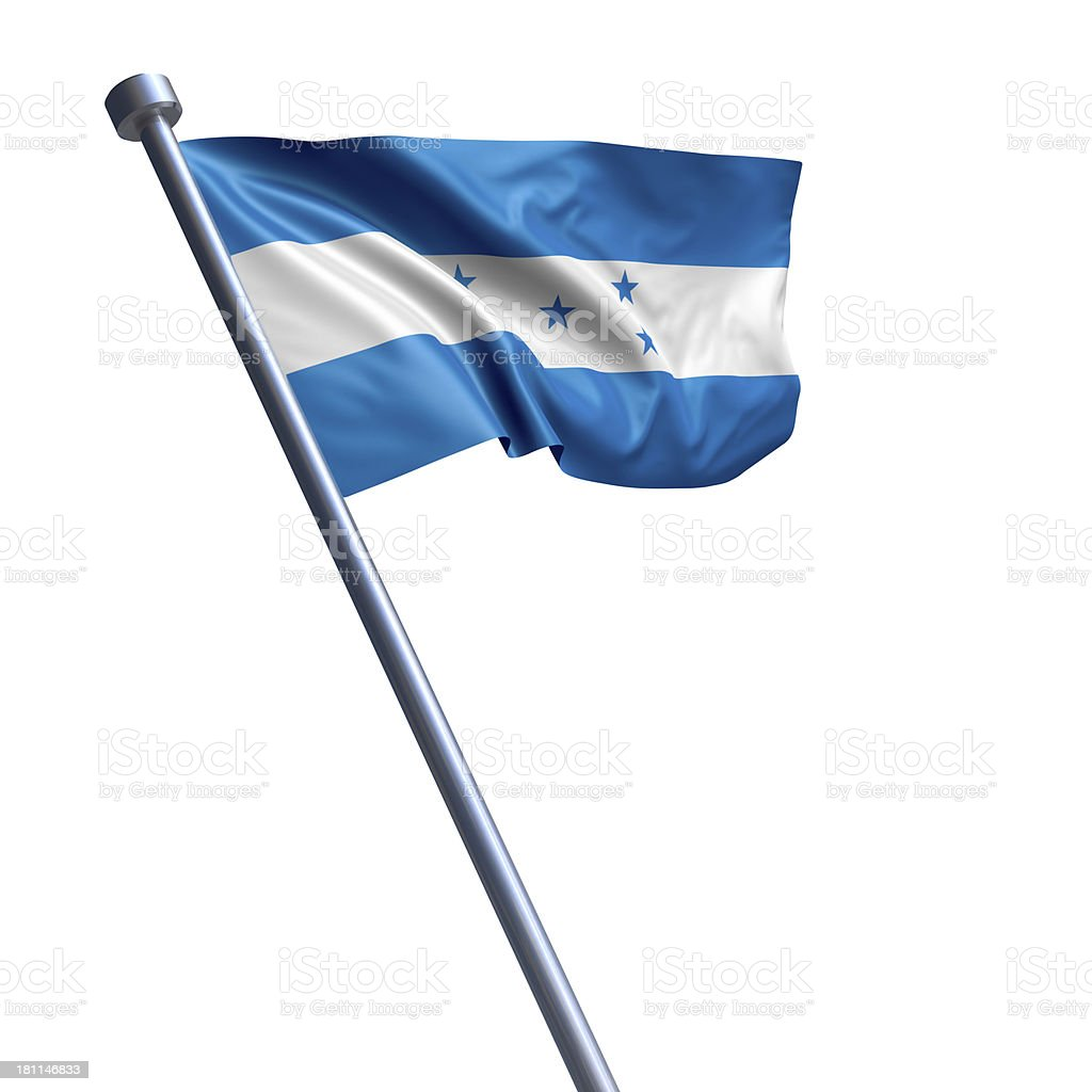 Flag of Honduras isolated on white stock photo