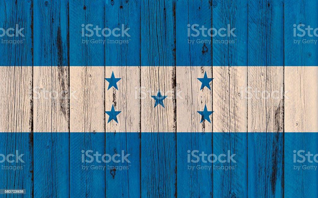 Flag of Honduras painted on wooden frame stock photo