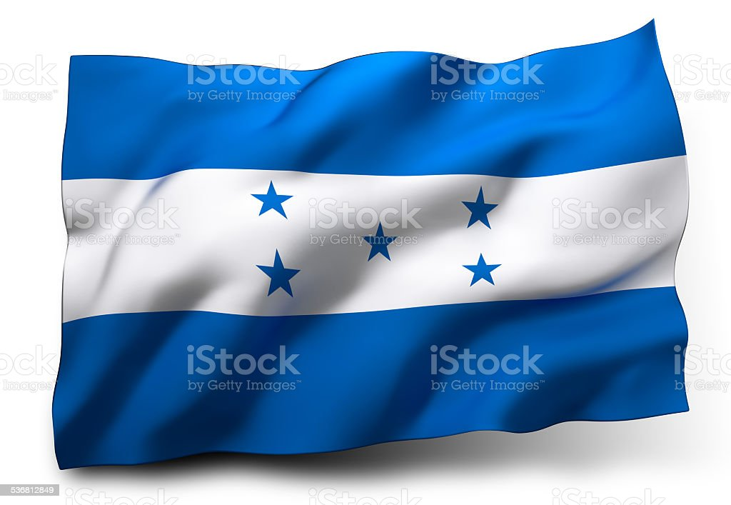Flag of Honduras stock photo