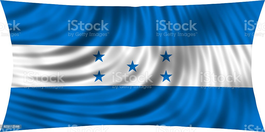 Flag of Honduras waving isolated on white stock photo