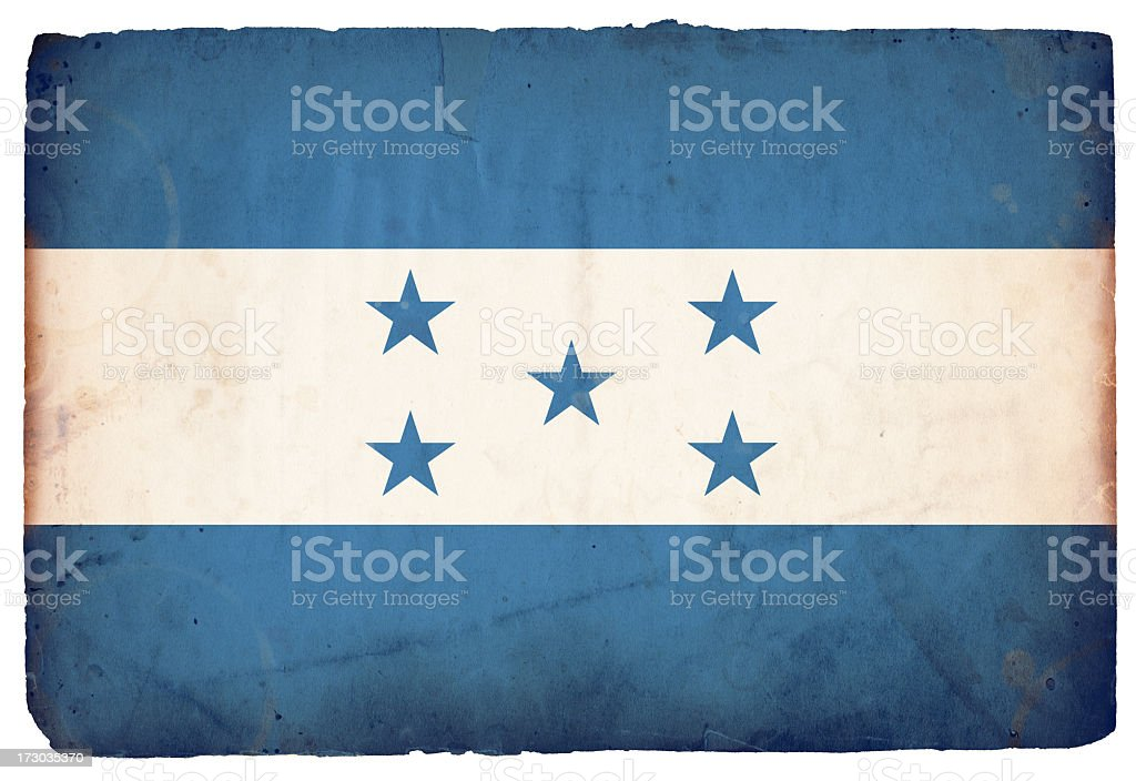 Flag of Honduras XXXL stock photo