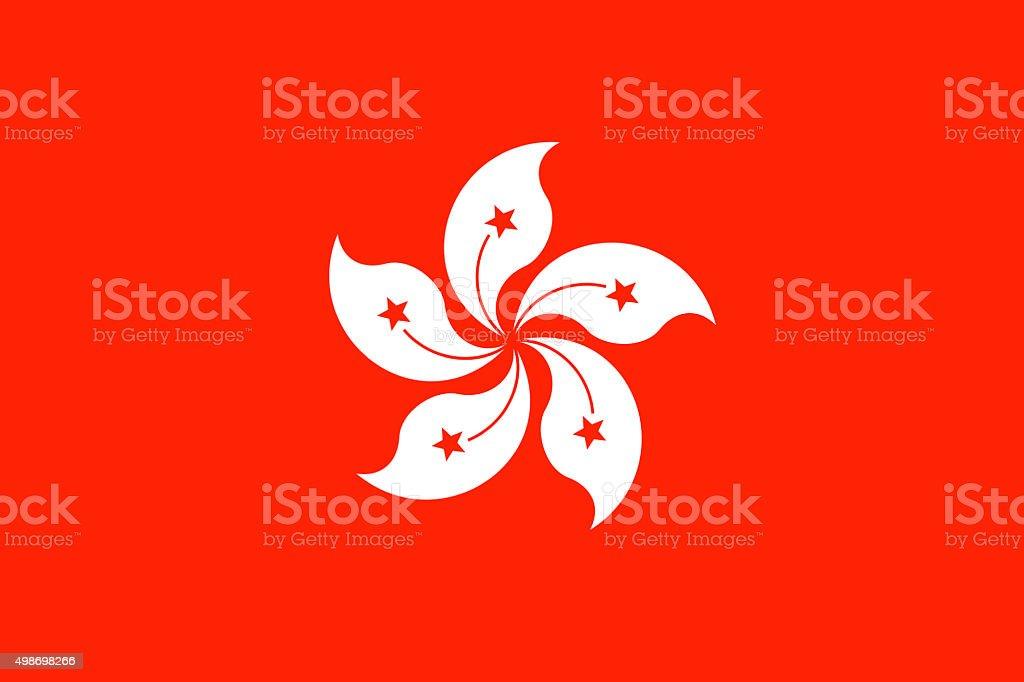Flag of Hong Kong stock photo