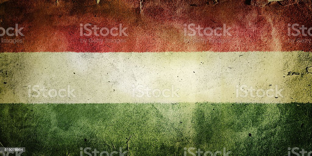 flag of Hungary stock photo