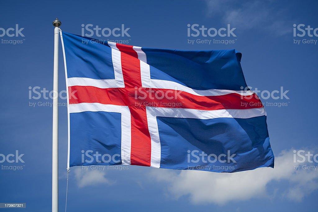 Flag of Iceland royalty-free stock photo