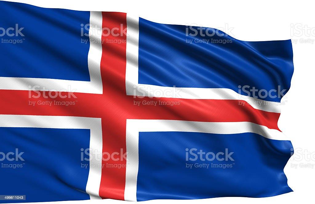 flag of Iceland stock photo