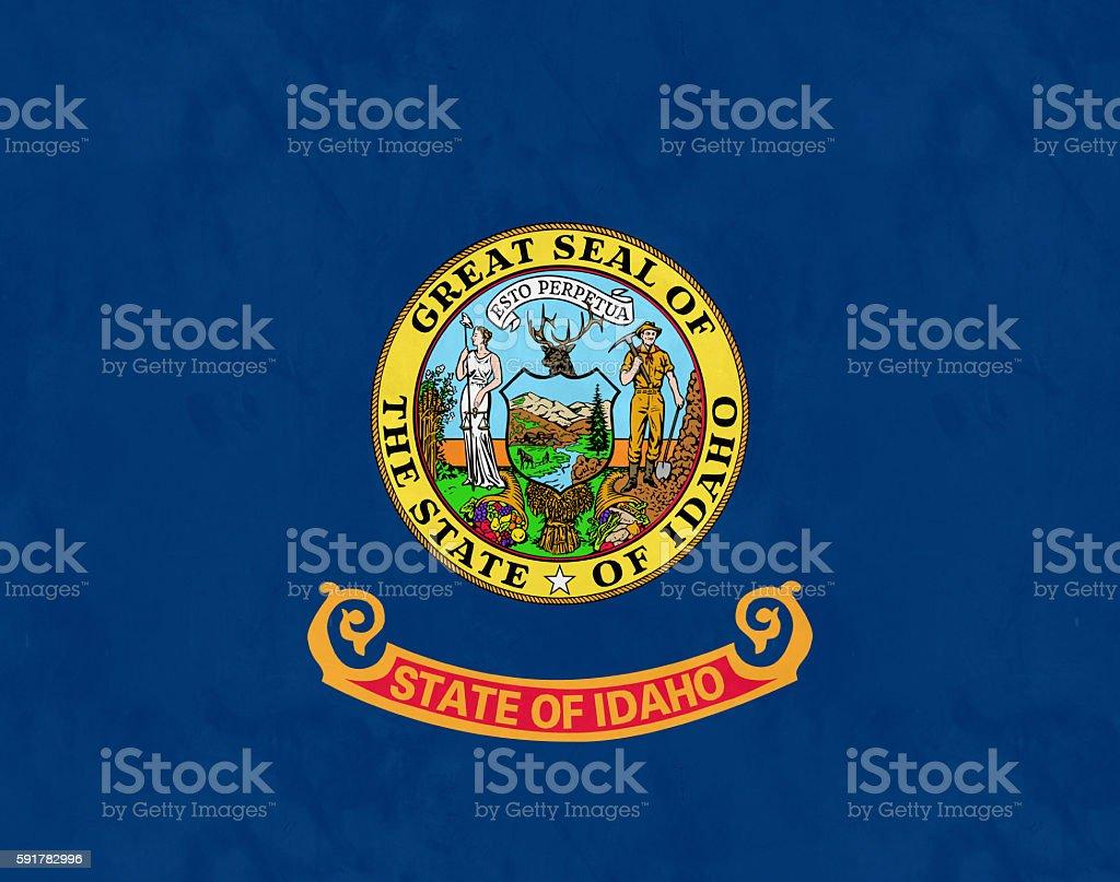 Flag Of Idaho (U.S. state) stock photo
