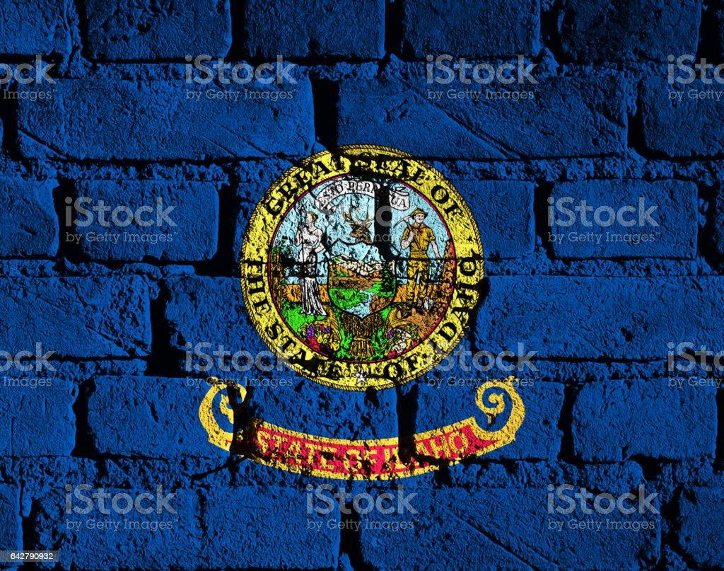 US flag of Idaho stock photo