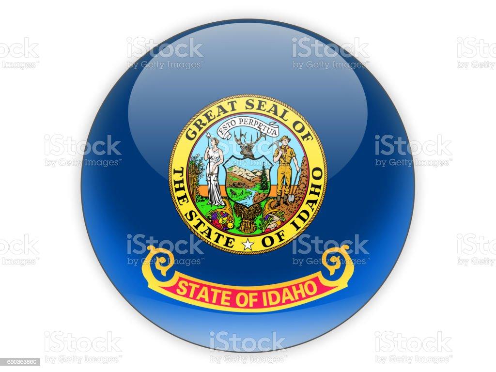 Flag of idaho, US state icon stock photo