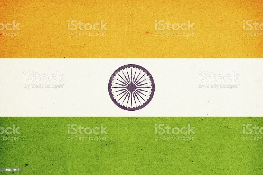 Flag of India Close-Up (High Resolution Image) royalty-free stock photo